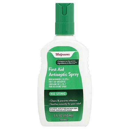 Walgreens First Aid Antiseptic Spray Antiseptic Cleansing Spray Spray