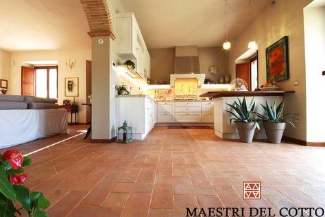 Risultati immagini per pavimento cucina in cotto imprunetino che ...