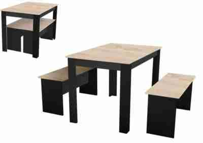 Table 2 Bancs Pasta Noir Et Chene Tables But Table Cuisine Table Basse Table