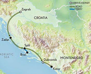Croatia Connections Map 2019 World Heritage Sites Croatia Plitvice Lakes