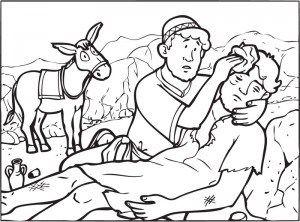 Good Samaritan Story from Jesus Coloring Page | Good Samaritan ...
