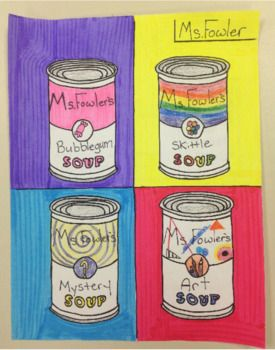 Andy Warhol S Campbell S Soup Pop Art Lesson Campbell Soup Art Art Lessons Campbell S Soup Cans