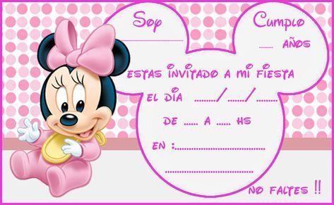 Pin De Marisela Segovia En Invitaciones De Minne Y Mickey