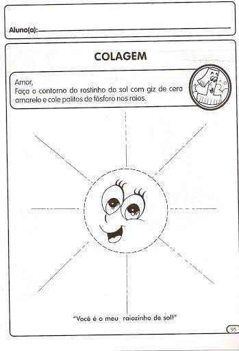 80 Atividades De Colagem Para Imprimir Educacao Infantil E