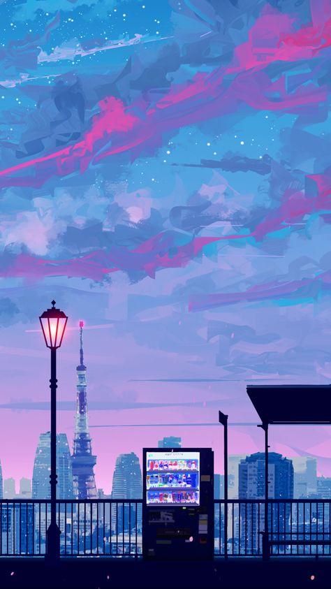 ✧・゚: *✧・゚:* — random anime landscape lockscreens please like or...