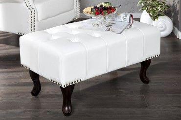 Design Chesterfield Fusshocker Weiss Sessel Weiss Sessel Sofa Sessel