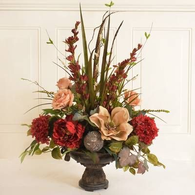Calla Lily And Orchid Silk Flower Arrangement Vases Decor