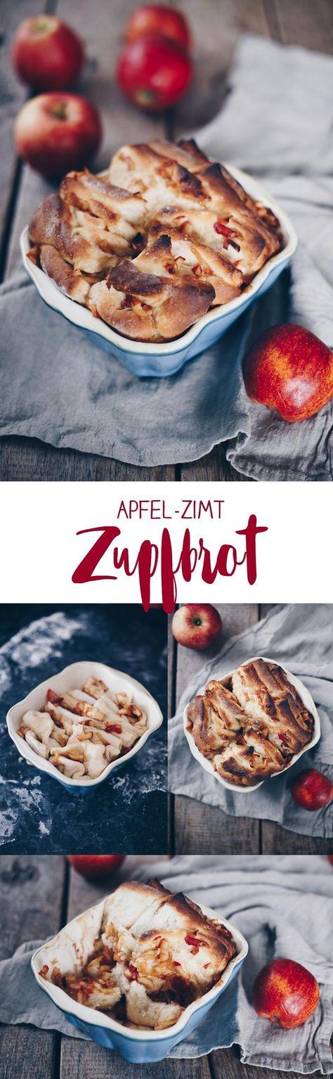 Sü�es Apfel-Zimt-Zupfbrot backen - Zupfbrot Rezeptideen - Frühstücksideen und Brunchrezepte #zupfbrot #herbstrezepte #frühstück #brunchrezept