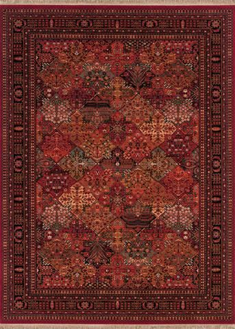 Couristan Kashimar Imperial Baktiari Antique Red Area Rug Couristan Area Rugs Red Rugs