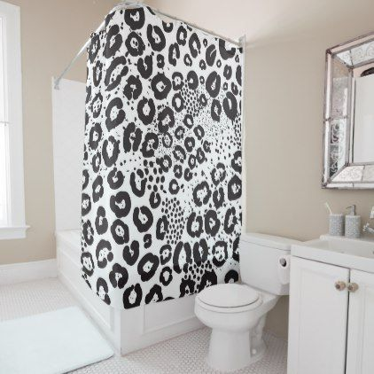 Cheetah Print Shower Curtain Cute Shower Curtains Decor Sweet Home
