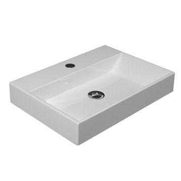 vasque à poser solo en résine de synthèse, blanc | leroy merlin