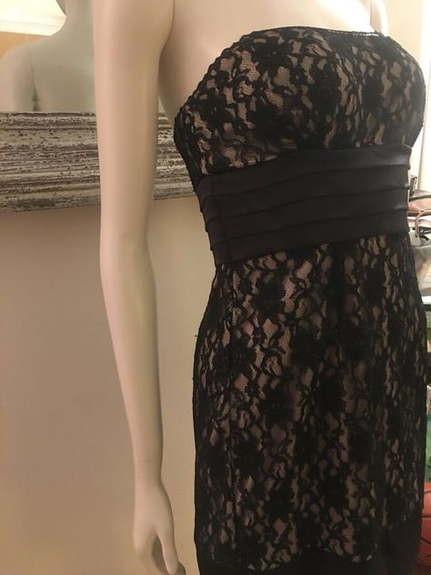 Formal Dress Prom black lace Bridesmaid