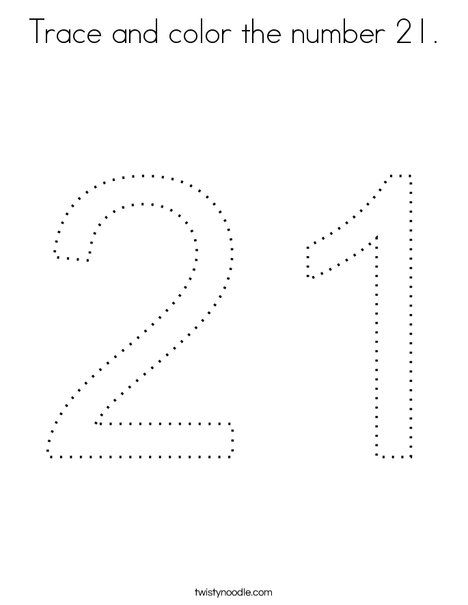 21 Easy To Learn Number Coloring Pages For Your Little Ones With
