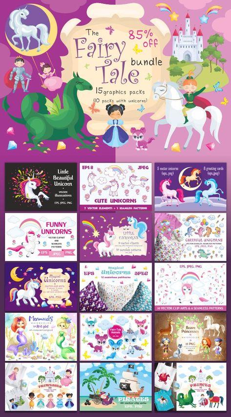 The FairyTale Bundle (272852)   Illustrations   Design Bundles