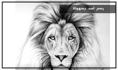 مدونة شمس تعلم رسم اسد بسهولة