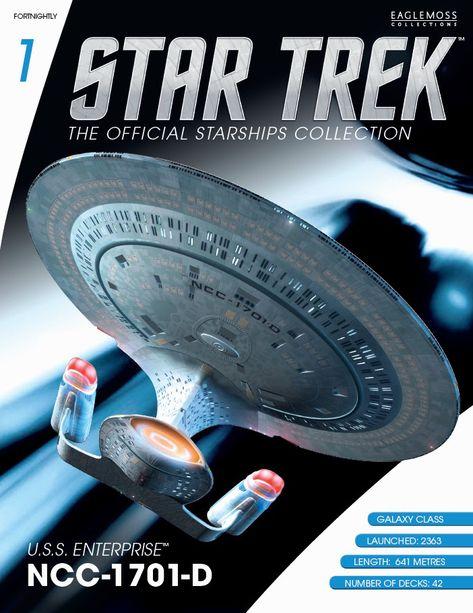 Star Trek Collection USS Enterprise NCC-1701-D Eaglemoss ...