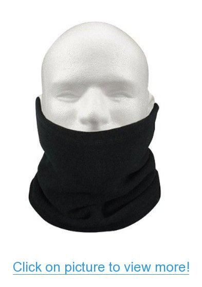 Antorh Thermal Neck Warmer Circle Scarf Winter Warm Snood Fleece Gaiter Skull Cap Beanie Hat for Cycling Motorcycle Ski Hiking Men Women Unisex