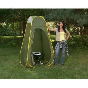 Camping Travel Toilet and Privacy Pop-up ... Omg genius!