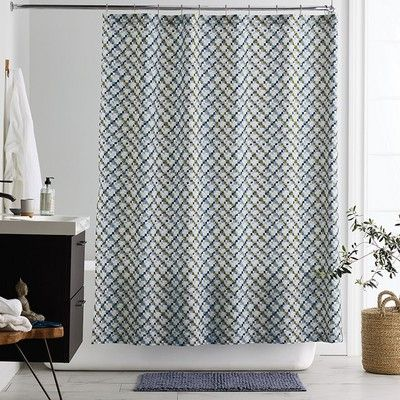 Pix 300 Thread Count Organic Cotton Shower Curtain Curtains Rug