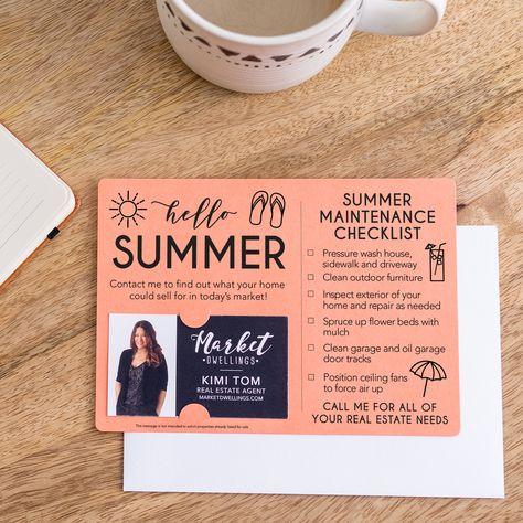 Set of Hello Summer Mailer   Envelopes Included   M4-M004 - SCARLET