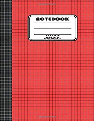 Graph Paper Notebook 7 5 X 9 75 In Graph Notebook Graph Notepad Grid Paper Notebook Graph Notebook Graph Paper Notebook Graph Paper
