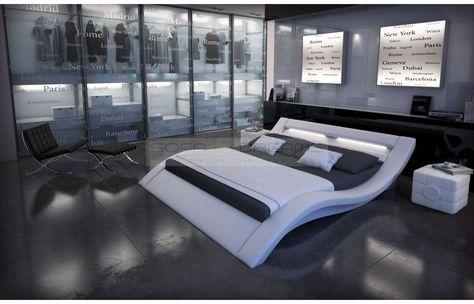 Designer bett led  Designerbett MASSA mit #LED-Beleuchtung - Exklusiv bei #Sofa ...