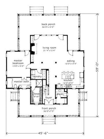 Four Gables Plan Top Floor Modifications Four Gables House Plan Gable House Southern Living House Plans