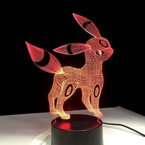 Achat Lampe De Bureau 3d Noctali Pokemon Lamp 3d Led Lamp Led Lamp