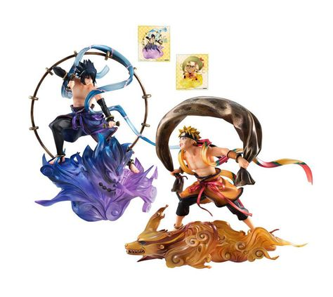 Naruto Shippuden G.E.M Series Remix Uchiha Sasuke /& Uzumaki Figure Toys No Box