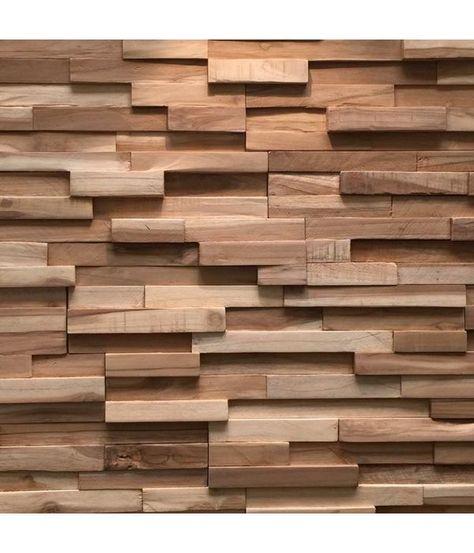 Plaquette De Parement Bois Recycle Ultrawood Teak Firenze En 2019