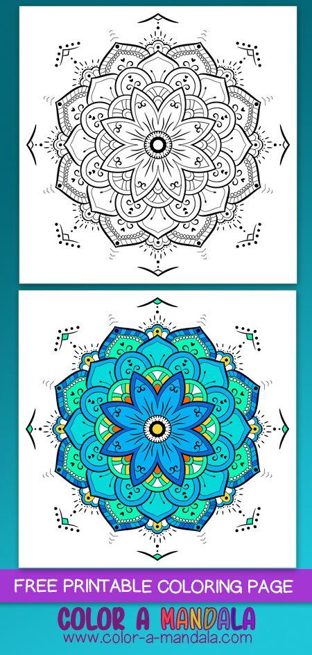 Mandala Blue Tones Colored Finished Mandala Coloring Pages Coloring Pages Mandala Coloring