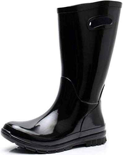 Buy Solarrain Women S Rubber Wide Calf Rain Boots Ladies Outdoor Durable Waterproof Insulated Galoshes Online Lace Up Combat Boots Boots Diesel Boots