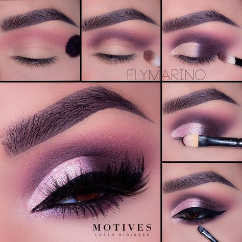 #Repost @motivescosmetics ・・・ We love @elymarino's ombre eye look with a pop of light pink sparkle. Get the loo