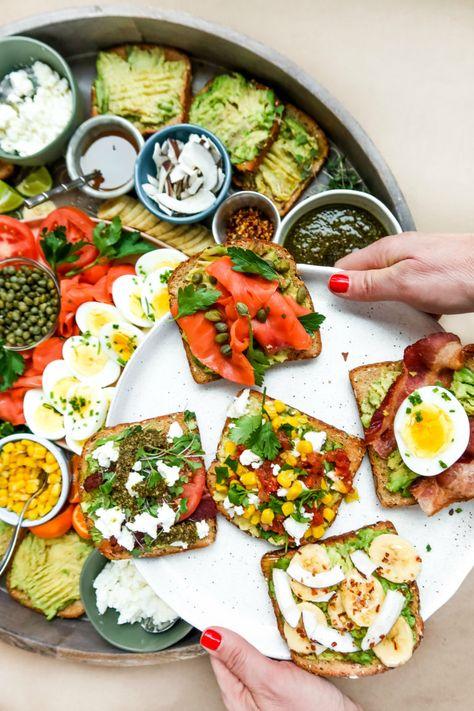 EPIC Avocado Toast Board #avocadotoast #avocadotoastboard #epicbreakfastboard #reluctantentertainer