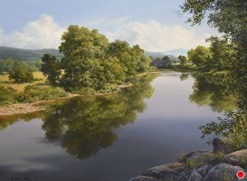 River Shadows By Andrew Orr Oil 12 X 16 Landscape River Landscape Paintings