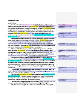The Pedestrian By Ray Bradbury With Guided Reading Annotations In The Margins Students Can Add To The Annotations Annotation Short Story Lesson Pedestrian