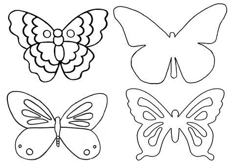 Kelebek Kaliplari Boyama Kelebekler El Isi Kece Elisi