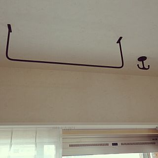 壁 天井 アイアンフック 物干し アイアンバー マンションリノベ など