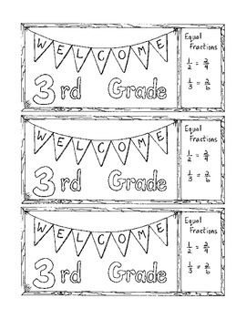 Welcome To Third Grade Bookmark Bulletin Board Back To School