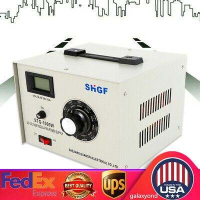 Details About 1000 Watt Power Step Up Down Voltage Transformer Electric Converter 0 300v Usa In 2020