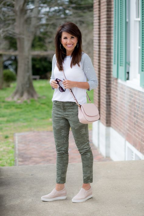 Seeing Stars with a Baseball Tee and camo pants. By Cyndi Spivey