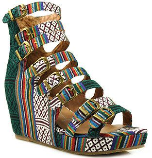 7393c02e53 ShopStyle: Jeffrey Campbell - All - Caps - Multi Colored Fabric Wedge Sandal