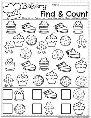 Preschool Cooking Theme With Images Preschool Math Worksheets