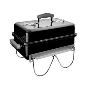 Weber Go Anywhere Portable Charcoal Grill In Black 121020 The Home Depot In 2020 Portable Charcoal Bbq Portable Charcoal Grill Charcoal Grill