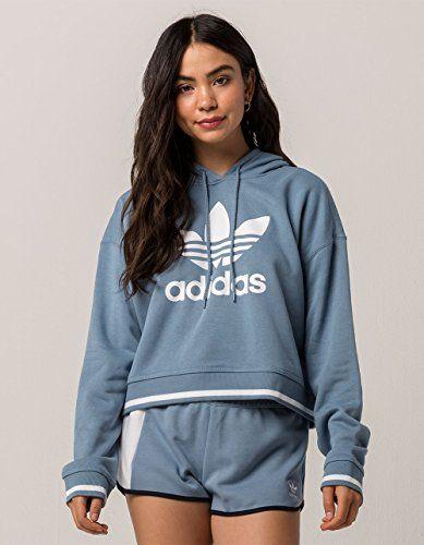 adidas Originals adidas Originals Active Icon Crop Hoodie Womens Raw Grey from Six:02 | more