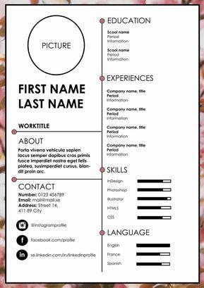 Resume Cv Resume Cv Resume Design Resume Design Creative Cv Design Template