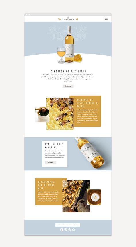 De Drie Vaandels Mead - Wine Package design