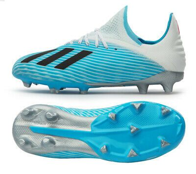 Adidas X 19 1 Fg Junior F35684 Soccer Shoes Football Cleats Kids Boots Blue Adidas Soccer Boots Soccer Shoes Kids Soccer Shoes