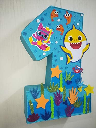 under the sea party Baby Shark pink pinata baby shark turuturut birthday party