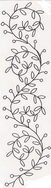 Floral Swirly Vines by jeninemd, via Flickr